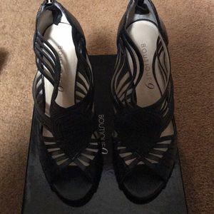 BNIB Boutique 9 Jayleen Black Caged Heel Sz 7.5